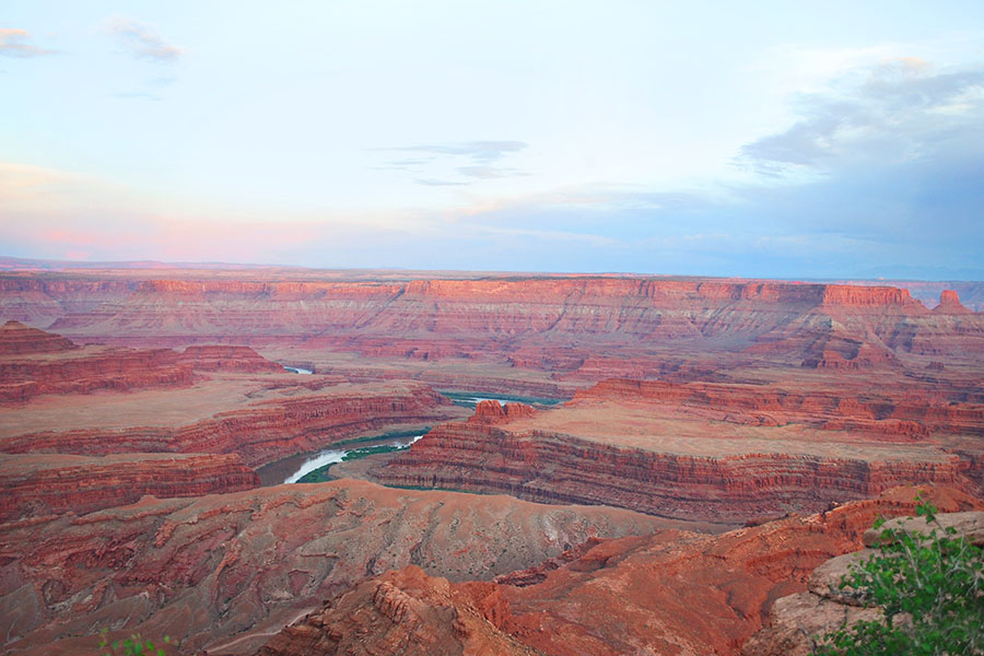 Sunset at Dead Horse Point State Park, Moab, Utah