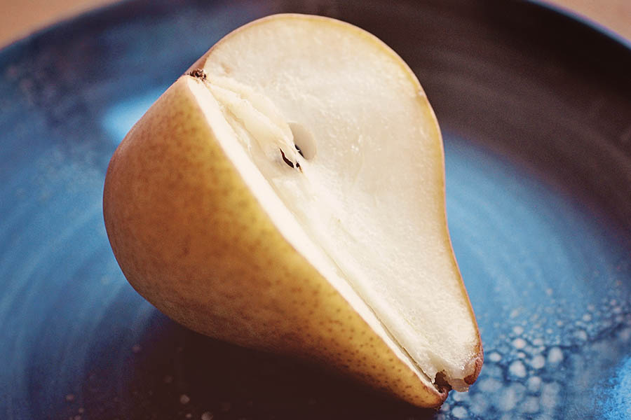 """Sliced Pear"" by Caryn Caldwell"