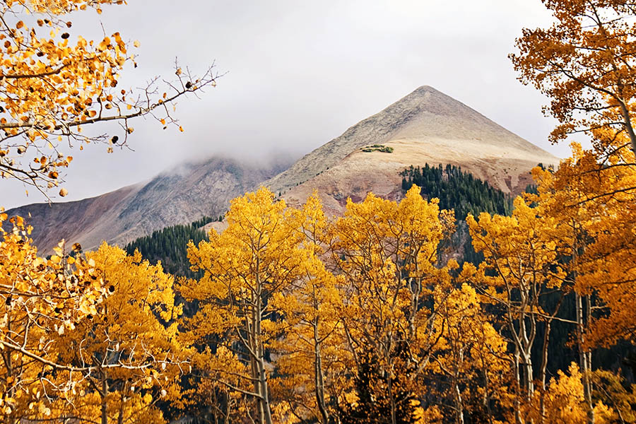 """Mountain Peak in Autumn"" by Caryn Caldwell"